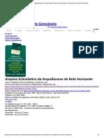 CBG – Colégio Brasileiro de Genealogia_ Arquivo Eclesiástico da Arquidiocese de Belo Horizonte