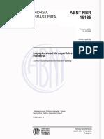 NBR 15185 - INSPEÇÃO VISUAL DE SUPERFÍCIE PARA PINTURA INDUSTRIAL