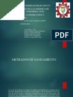 METRADO DE SANEAMIENTO