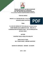 El uso de harina de yuca (Manihot sculenta crantz) como reemplazo alimenticio  del maiz en la elaboracion de piensos para pollos broiler en estado final.pdf