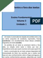 Unidades 1 e 2 - Apostila Vol. 3 Do E.F.