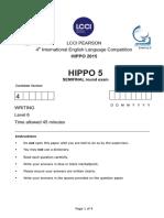 Hippo 5 Writing 2016