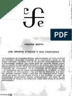 split_15. Barth, Fredrik, Los grupos étnicos y sus fronteras Introducción