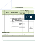 Course Assesment Chart - Manufacturing Processes