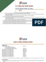 2020-21 FHSAA Fall Sports Season Calendar Information