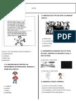 avaliação ARTE 2º B - 3ºP