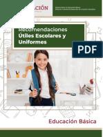 Anexo 2. Recomendaciones para útiles escolares y uniformes
