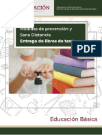 Anexo 3. Medidas de prevención y sana distancia para la entrega de libros de texto