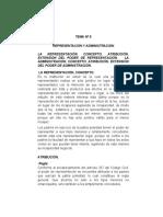 tema nº 5 Representación y administración