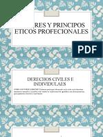 VALORES Y PRINCIPOS ETICOS PROFECIONALES