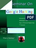 22638454 Seminar on Google Hacking