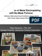 modernization of metal electroplating with no mask fixtures