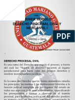 I MODULO PROCESAL CIVIL Y MERCANTIL I