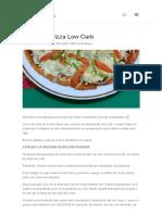 Massa de Pizza Low Carb
