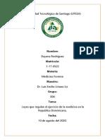 leyes que regulan el ejercicio de la medicina en la Republica Dominicana.