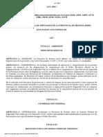 Ley 13927 Pcial Buenos Aires