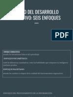 ESTUDIO DEL DESARROLLO COGNOSITIVO 6 ENFOQUES