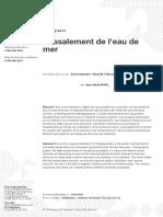Dessalement de l'eau de mer.pdf