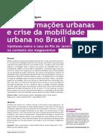 """juciano rodrigues """"transformações urbanas e crise da mobilidade"""""""