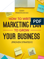 How to Write a Marketing Plan to Grow Your Business