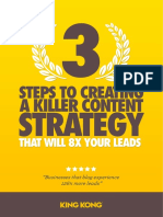 3 Step To Creating A Killer Content Strategy