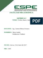 ACIDOS Bases y Sales