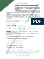 Exercícios de Taxa Nominal, Proporcional e Equivalente