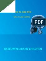 3.2. Osteomyelitis - dr. Audi, Sp.OT