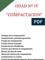 UNIDAD IV COMPACTACIÓN DE LOS SUELOS