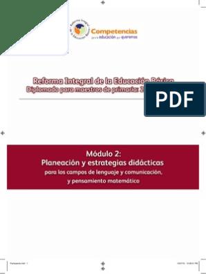 Modulo 2 Planeacion y Estrategias Didacticas Para Los Campos de