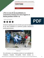 Pruebas gratuitas de COVID-19 en localidades en cuarentena de Bogotá