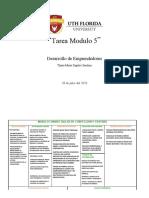 DESARROLLO DE EMPRENDEDORES TAREA MODULO #5