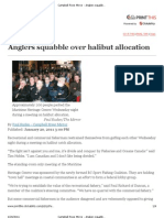 Campbell River Mirror - Anglers Squabble Over Halibut Allocation
