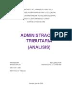 analisi de administración tributaria