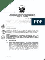 Central Resolución 003-2018-DTR