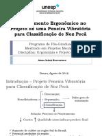 Apresentação Ergonomia Projeto Peneira Vibratória