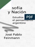 Filosofia y nacion, Feiman
