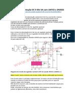 Fonte de alimentação DC 0-30v 5A com LM723 e 2N3055