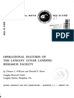 Operational Features of the Langley Lunar Landing Research Facility