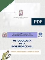 Presentación - Tipos y Diseños de la Investigación.