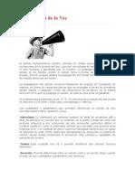 CARACTERISTICAS FISICAS DE LA VOZ