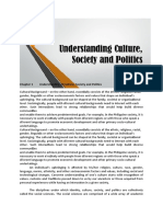 Understanding culture, society, and politics--