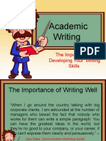 the importance of academic writing skill