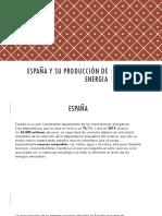 España y su producción de energia