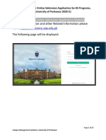 Online Admission Application for BS Programs Guideline