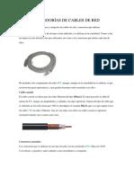 TIPOS Y CATEGORÍAS DE CABLES DE RED