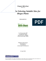 Guidelines for Selecting Sites for Biogas Plants