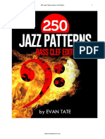 Evan Tate 250 Jazz Patterns (Bass Clef)