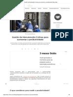 Gestão da Manutenção_ 9 dicas para aumentar a produtividade _ Blog Voitto