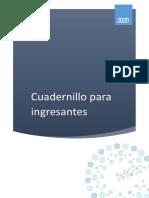CUADERNILLO CURSO INGRESANTES 2020 -ULTIMA VERSIÓN- Dirección de Educación Superior - Entre Ríos